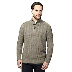 RJR.John Rocha - Light brown textured weave lambswool rich jumper