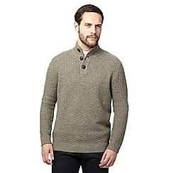 RJR.John Rocha - Big and tall light brown textured weave lambswool rich jumper