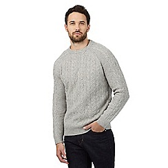 RJR.John Rocha - Big and tall natural cable knit jumper with wool