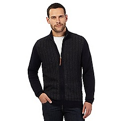 RJR.John Rocha - Navy lambswool rich textured herringbone sweater