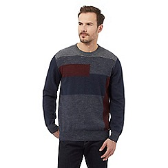 RJR.John Rocha - Navy block striped jumper