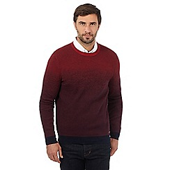 RJR.John Rocha - Big and tall red ombre crew neck jumper