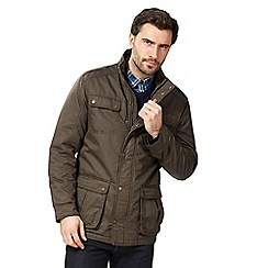 RJR.John Rocha - Big and tall dark brown harrington jacket