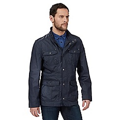 RJR.John Rocha - Big and tall navy high neck jacket with linen
