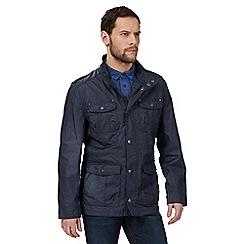 RJR.John Rocha - Navy high neck jacket with linen