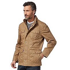 RJR.John Rocha - Big and tall natural high neck jacket with linen