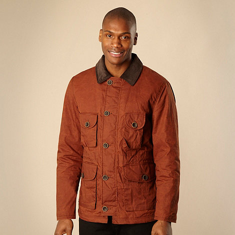 RJR.John Rocha - Designer dark orange waxed jacket