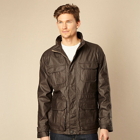 RJR.John Rocha - Designer dark brown coated linen blend jacket