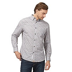 RJR.John Rocha - Big and tall grey tile print shirt