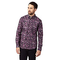 RJR.John Rocha - Big and tall purple floral print button-down shirt