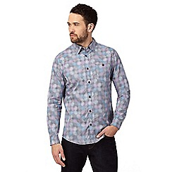 RJR.John Rocha - Purple button-down circle print shirt