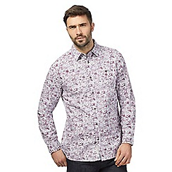 RJR.John Rocha - Big and tall purple floral print shirt