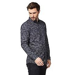 RJR.John Rocha - Navy floral print tailored fit shirt