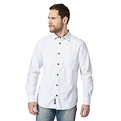 RJR.John Rocha - White dobby stripe button down shirt