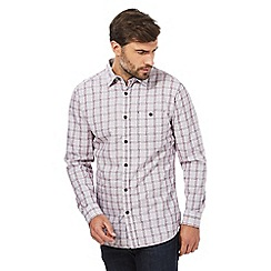 RJR.John Rocha - Purple basket weave checked shirt
