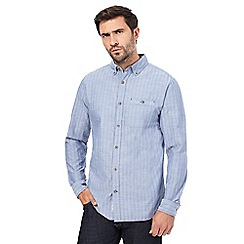 RJR.John Rocha - Blue textured stripe shirt