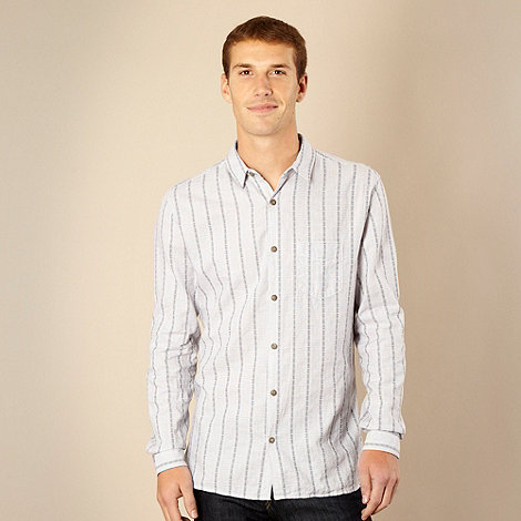 RJR.John Rocha - Designer pale blue jacquard striped shirt