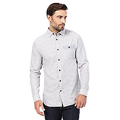 RJR.John Rocha - Grey textured striped print tailored fit shirt
