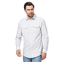 RJR.John Rocha - Big and tall light grey regular fit shirt