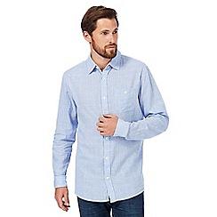 RJR.John Rocha - Blue linen blend checked shirt