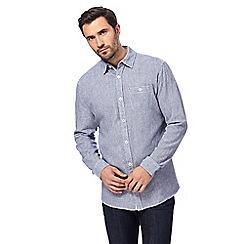RJR.John Rocha - Blue puppytooth print regular fit shirt