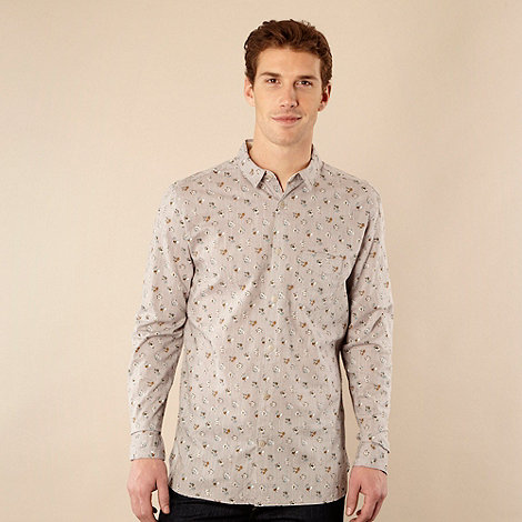 RJR.John Rocha - Designer light grey floral print shirt