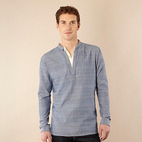 RJR.John Rocha - Designer blue textured kaftan shirt