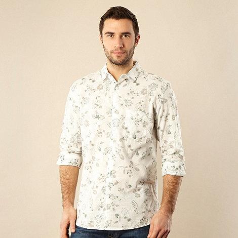 RJR.John Rocha - Designer green reverse printed floral shirt