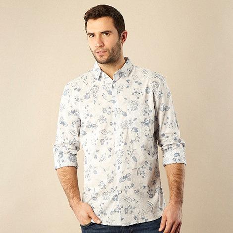 RJR.John Rocha - Designer blue reverse printed floral shirt