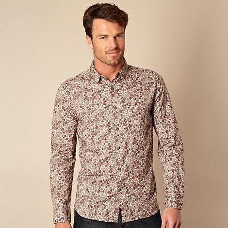 RJR.John Rocha - Designer grey faded rose printed shirt