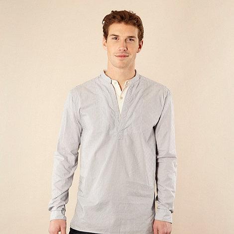 RJR.John Rocha - Designer pale blue Jacquard striped kaftan shirt