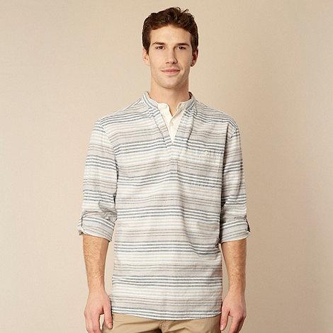 RJR.John Rocha - Blue varied striped kaftan shirt