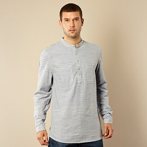 RJR.John Rocha - Designer blue striped grandad shirt