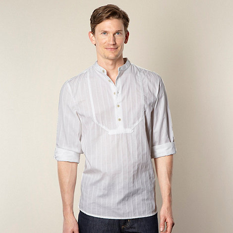RJR.John Rocha - Designer white textured bib shirt