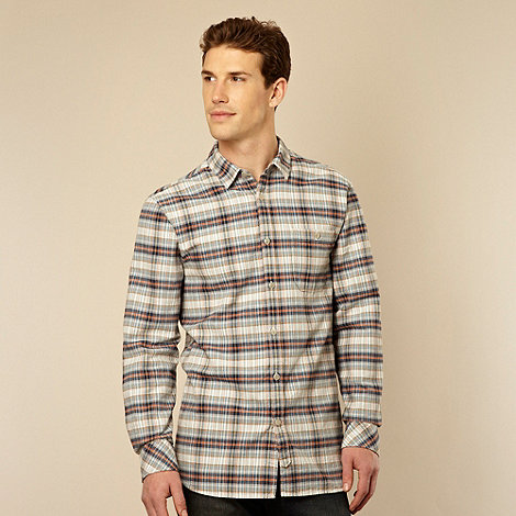 RJR.John Rocha - Designer blue herringbone checked shirt