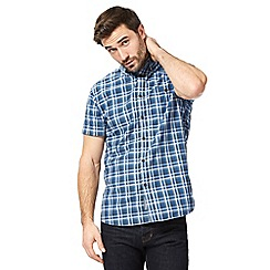 RJR.John Rocha - Grey checked regular fit shirt