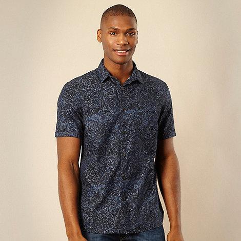 RJR.John Rocha - Designer navy tie dye short sleeved shirt