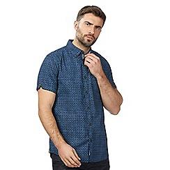RJR.John Rocha - Big and tall navy patterned short sleeved shirt