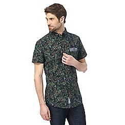 RJR.John Rocha - Big and tall green botanical print regular fit shirt