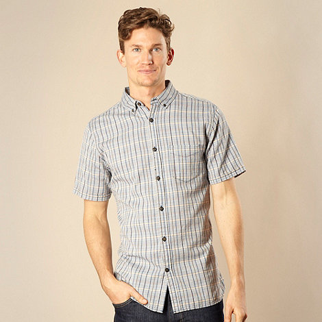 RJR.John Rocha - Big and tall designer blue woven chambray checked shirt
