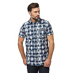 RJR.John Rocha - Big and tall blue checked tailored fit shirt