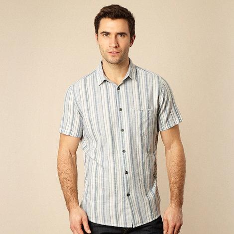 RJR.John Rocha - Blue multi striped textured shirt