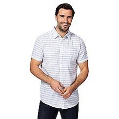 RJR.John Rocha - Blue striped regular fit shirt