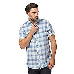 RJR.John Rocha - Big and tall blue checked regular fit shirt