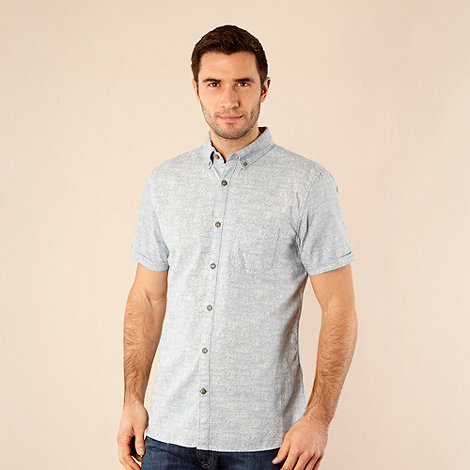 RJR.John Rocha - Designer pale blue floral short sleeved shirt