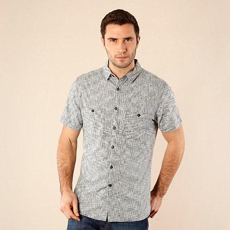 RJR.John Rocha - Designer navy woven cross hatch shirt
