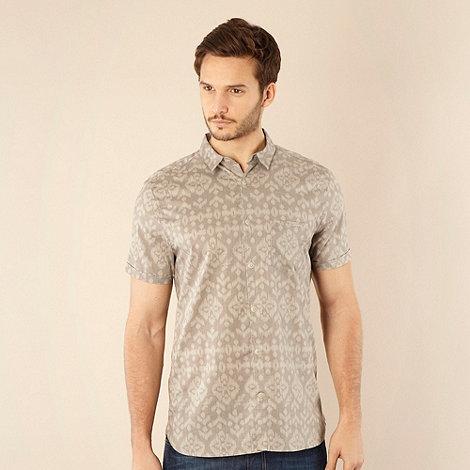 RJR.John Rocha - Designer grey tribal reverse printed shirt