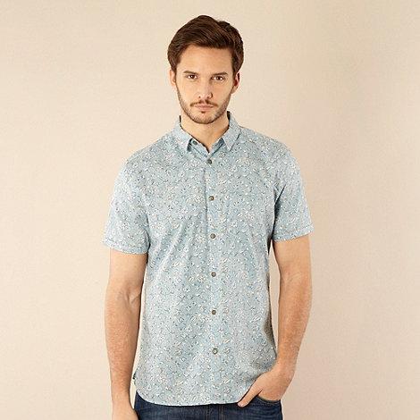 RJR.John Rocha - Designer light blue reverse printed floral shirt