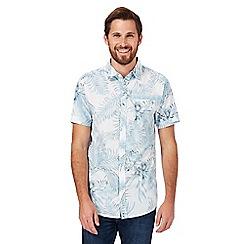 RJR.John Rocha - Blue floral palm leaf print shirt
