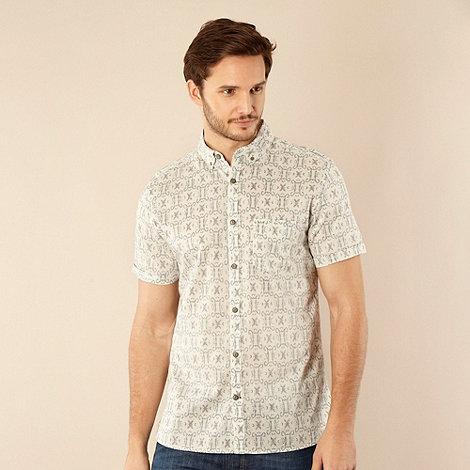 RJR.John Rocha - Designer cream Jacquared design shirt